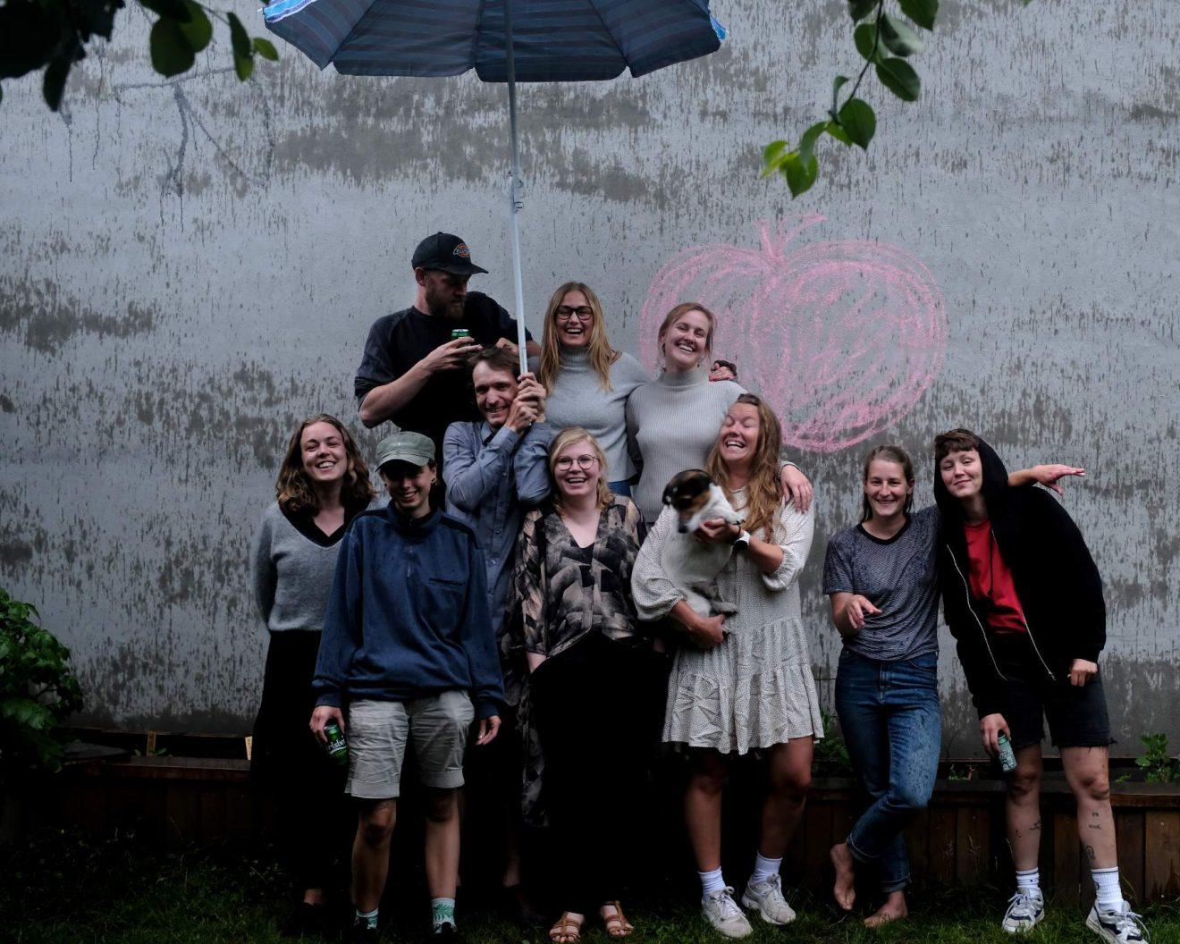 Team TagTomat ano juni 2020 til sommerfest i regnvejr